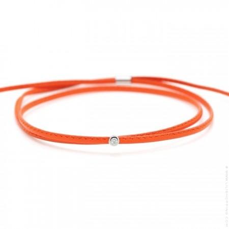 My first diamond United orange bracelet