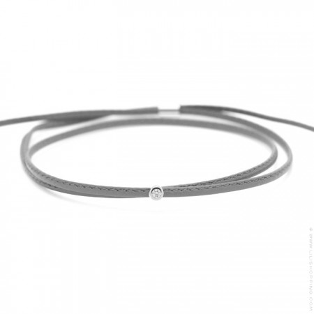 Bracelet My First Diamond United gris