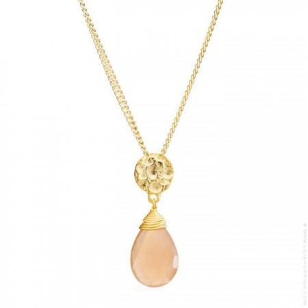 Kate aqua calchedony gold platted necklace