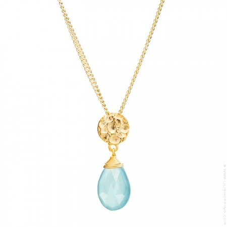 Kate labrodite gold platted necklace