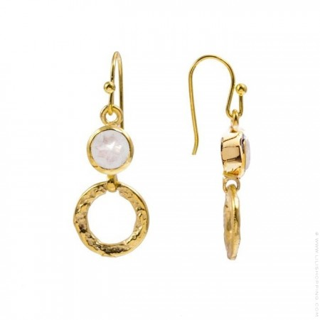 Larissa boho labradorite hoops earrings