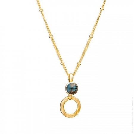 Collier Athena chaine plaquée or et labradorite