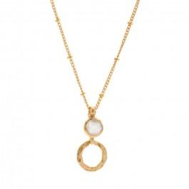 Collier Larissa bohème chaine plaquée or et pierre de lune