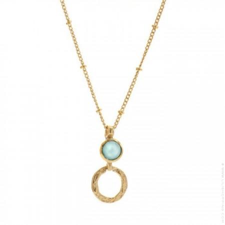 Larissa boho labradorite gold platted necklace