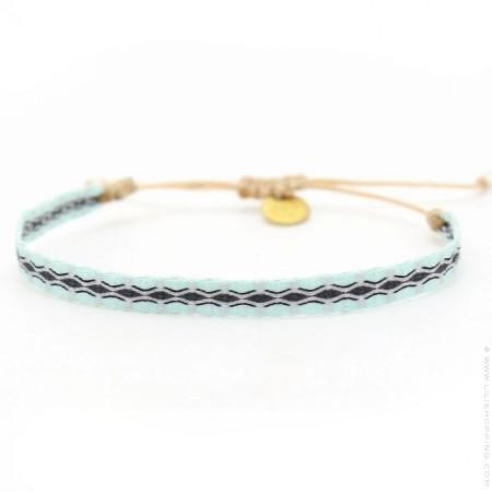 Bracelet Argentinas menthe et noir