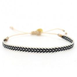 Argentinas black grey white bracelet