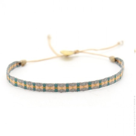 Argentinas grey and peach bracelet