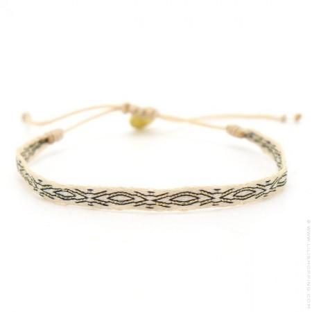 Bracelet Argentinas noir beige et or