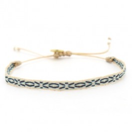Bracelet Argentinas bleu marron beige