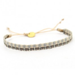 Bracelet Argentinas beige et jean vintage