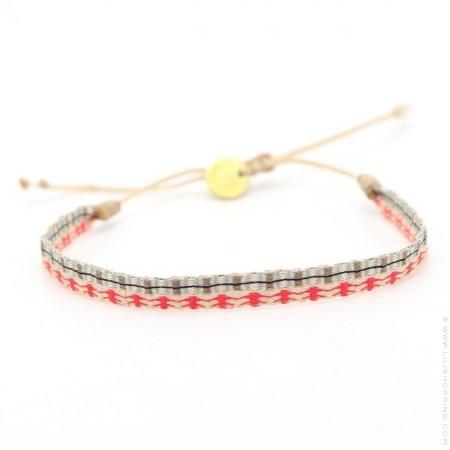 Bracelet Argentinas beige red et jean vintage
