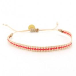Argentinas cream and coral bracelet