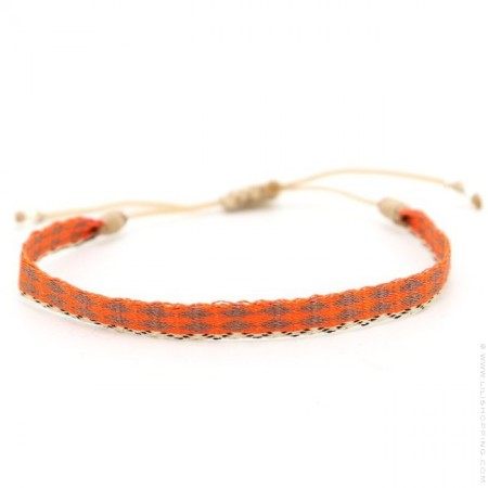 Bracelet Argentinas orange et moka