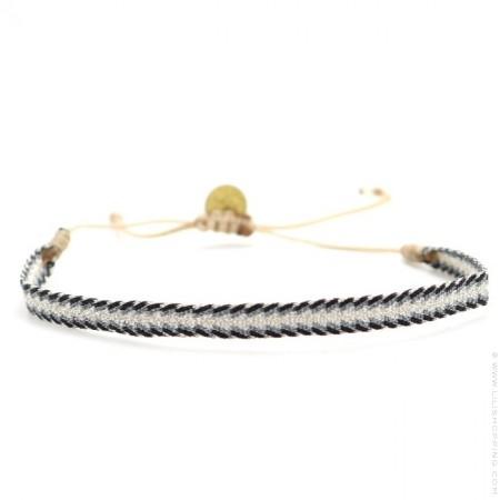 Bracelet Argentinas noir blanc et bleu