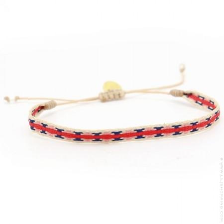 Bracelet Argentinas bleu blanc rouge