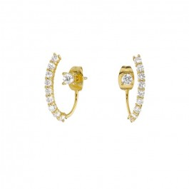 Times Square gold platted earrings