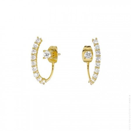 Queens gold platted earrings