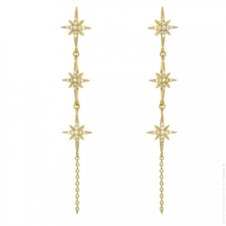 Diwali River gold platted earrings