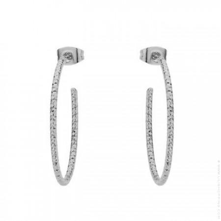 Silver platted Amazonia hoop earrings