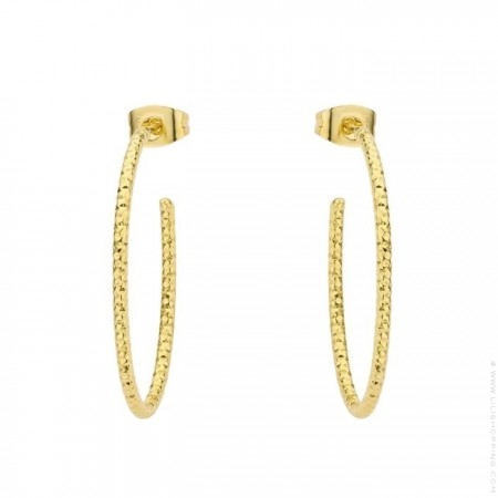 Gold platted peak hoop earrings