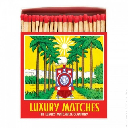 Stripey lighthouse Luxury matchbox