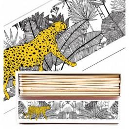 Cheetah in white jungle luxury long matchbox
