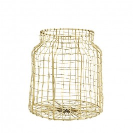 Antic gold iron wire basket