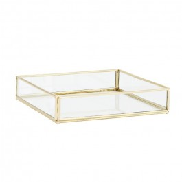 Quadratic glass tray