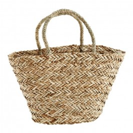Straw bag with handles
