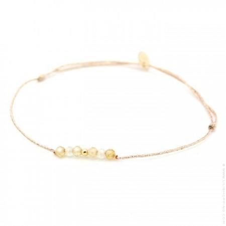 Bracelet lurex Lea Zyrcon plaqué or
