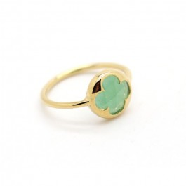 Gold platted aventurine ring