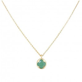 Gold plated necklace with a green aventurine