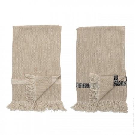 Set of 2 natural cotton kitchen towels