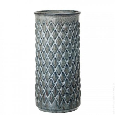 Vase en grès bleu