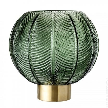 Vase boule vert