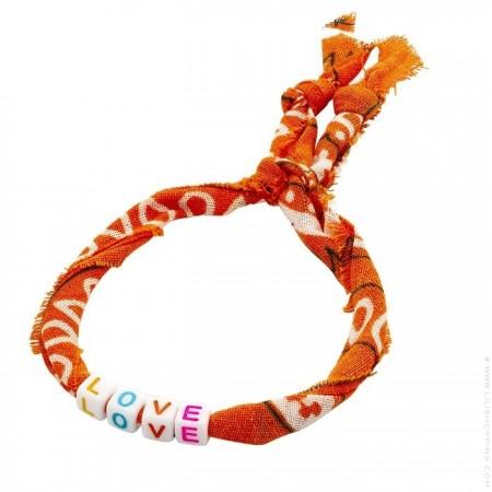Orange bandana LOVE bracelet