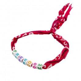 Fushia bandana Freedom bracelet