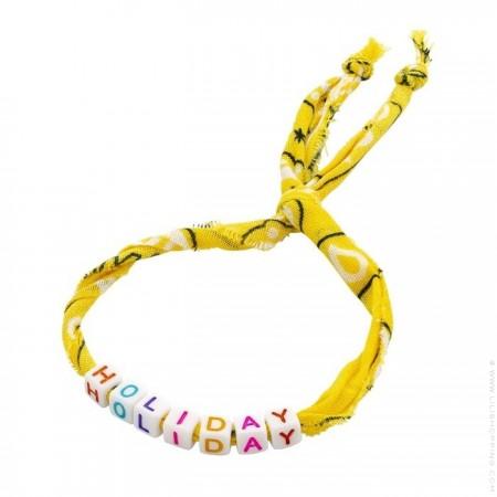 Yellow bandana Holiday bracelet