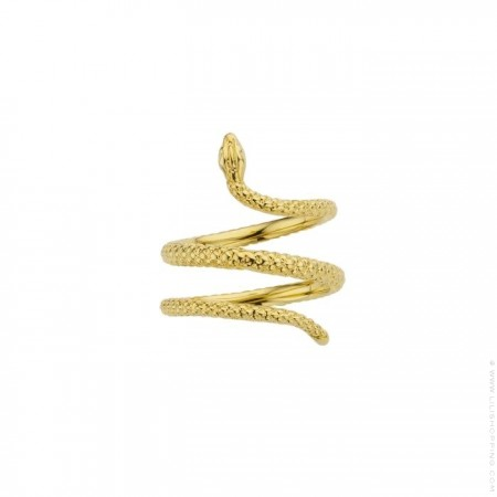 Snake gold Plated Ring