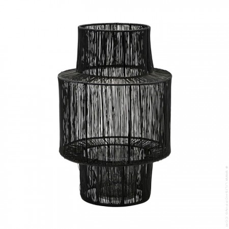 Lanterne Tabia laquée noir