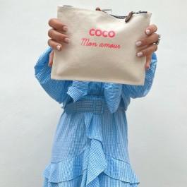 Pochette Coco mon amour pink