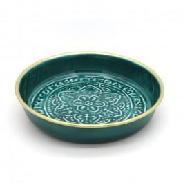 Green enamelled Berber cup