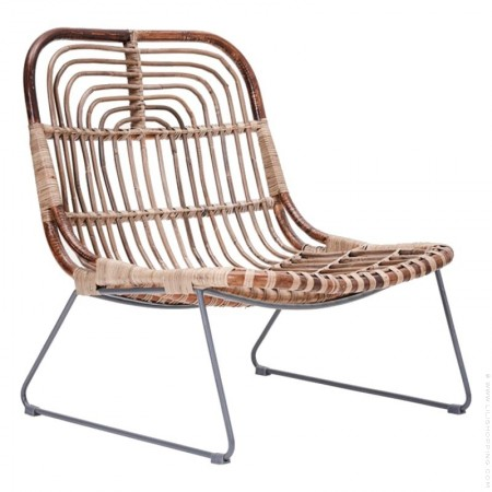 Kawa rattan lounge chair