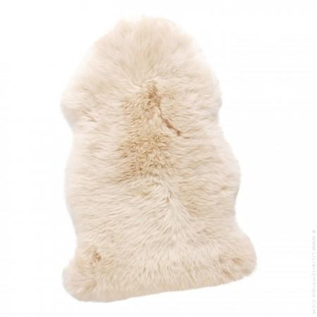 White sheepsking rug