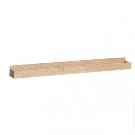 60 cm oak wall shelf