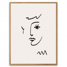 Face with starry eye framed poster