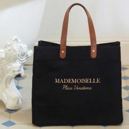 Sac cabas Denim Black Mademoiselle Place Vendôme