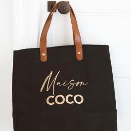 Sac cabas Denim Black Maison Coco