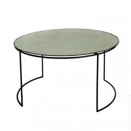 Table ronde miroir vintage 50 cm