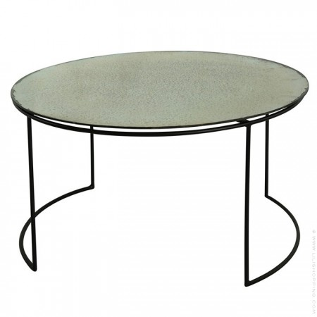 Ancient mirror snow glass coffee table 50 cm
